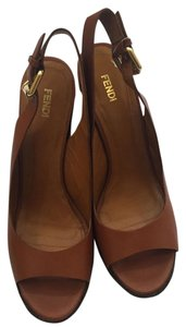 Fendi Tan Wedges