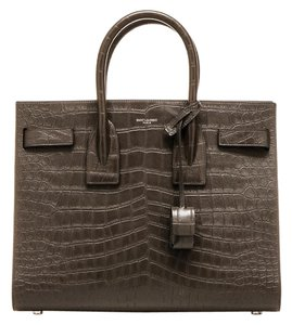 Saint Laurent Ysl Sac De Jour Satchel in Grey Brown
