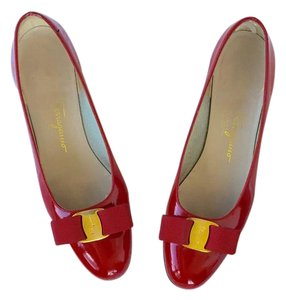 Salvatore Ferragamo Red Flats