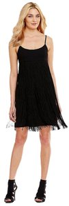 Calvin Klein Scoop Fringe Hem Empire Waist Sleeveless Prom Dress