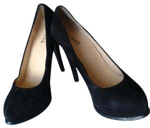 Guess Heels Suede Platform High Heels Womens Heels Black Pumps