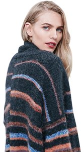 Free People Alpaca Striped Warm Colors Sz Medium Cardigan