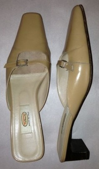 Talbots Tan patent leather Mules