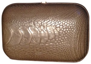Christian Lacroix One Of A Kind Taupe python Clutch