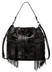 Botkier Fringe Crossbody Embossed Festival Shoulder Bag