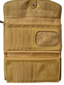 Fossil FREE SHIPPING ~ Fossil Leather Yellow Wallet Checkbook Style Soft Lots of Room