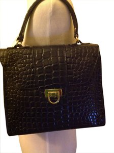 Lord & Taylor Vintage Embossed Leather Shoulder Bag