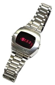 Pulsar Pulsar Stainless Steel LED Display Digital Wristwatch