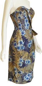 Alfred Shaheen short dress Vintage Floral Sarong Strapless on Tradesy
