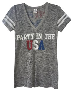 PINK Victoria's Secret Usa T Shirt Gray