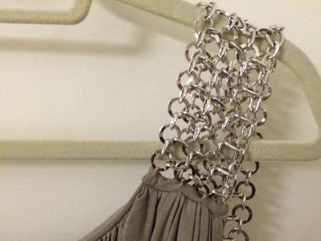 Catherine Malandrino Chainlink Strap Corset Bubble Skirt Fitted Dress Image 2