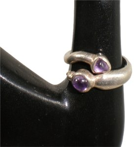 Other Sz 7 Sterling Silver Amethyst Snake Ring