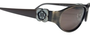 Chanel Vintage Style Brown and Gray Flower Sunglasses 4166 C373/73