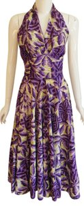short dress Purple Green on Tradesy