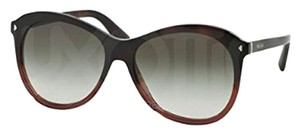 Prada Prada PR13RS-TWCOA7 Women's Red Havana Frame 57mm Sunglasses NIB