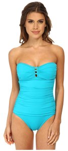 Tommy Bahama Tommy Bahama Pearl Bandeau One Piece Strings Seaside Green 14