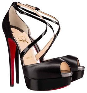 Christian Louboutin Cross Me Black Platforms