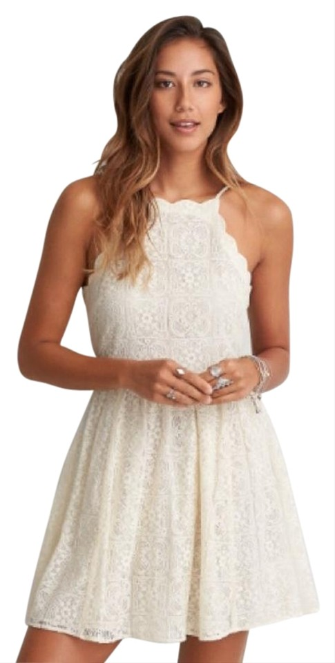 77036a79324 American Eagle Outfitters Ivory Above Knee Short Casual Dress Size 0 ...