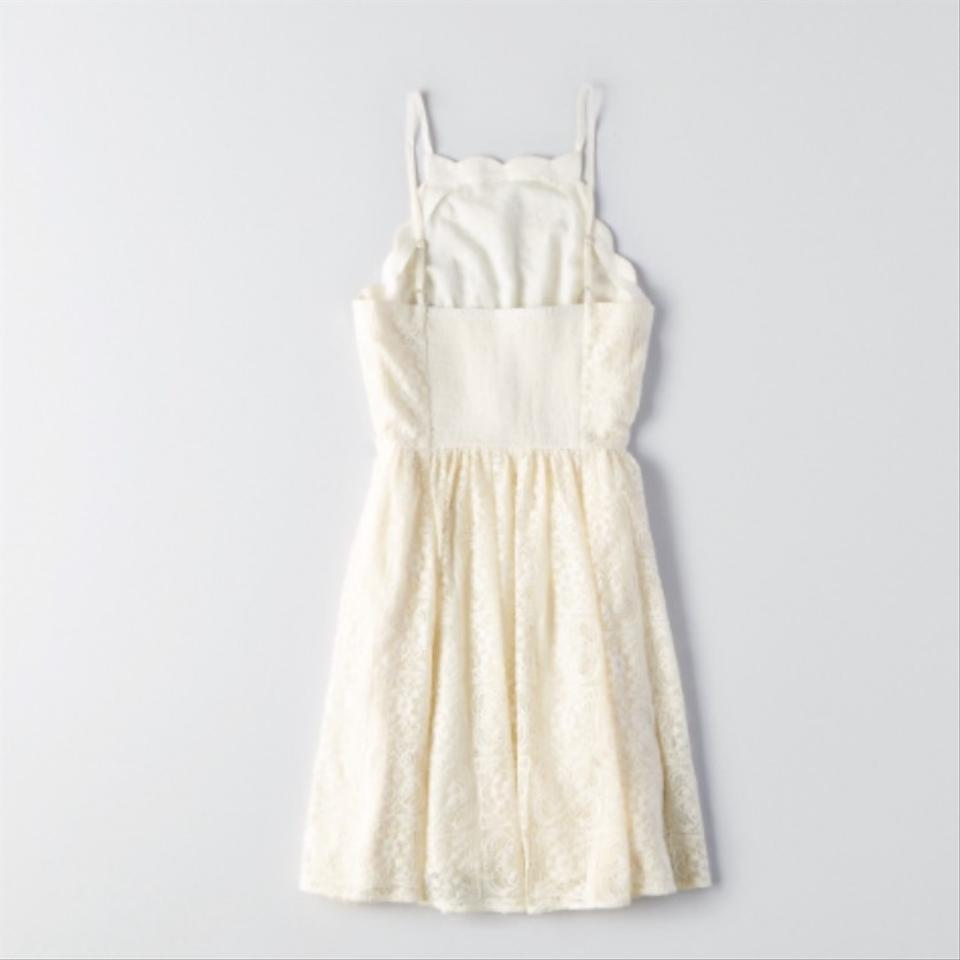 6330ccefe1 American Eagle Outfitters Ivory Above Knee Short Casual Dress Size 0 ...