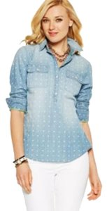 C. Wonder Summer Anchors Hearts Top Chambray