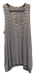 Calypso St. Barth Striped Long Top Black and White