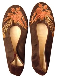 Chinese Shoes Chinese Phoenix Size 6 Size 5.5 Brown Flats