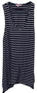 Calypso St. Barth Long Top navy and White