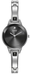 Citizen Eco-Drive Black Dial Stainless Steel Bangle Ladies Watch in box