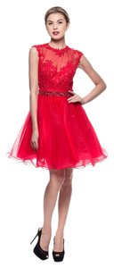 Bicici & Coty Cocktail Cap Sleeve Tulle Ks917 Dress