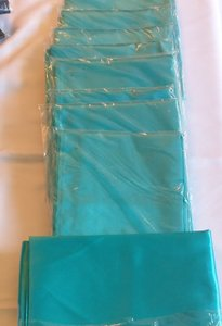 Turquoise Satin Table Runners - 10 Count