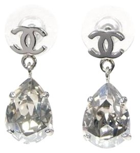 Chanel Authentic Chanel Teardrop Crystal Earrings - Offers being accepted!