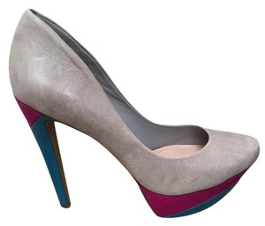 Jessica Simpson Grey Magenta Blue Pumps