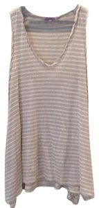 Calypso St. Barth Stripped Top Tan and White