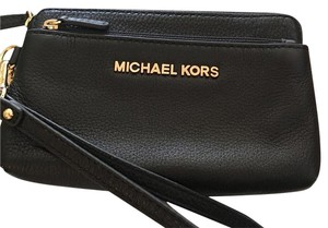 Michael Kors Wristlet Iphone Wallet Black Clutch