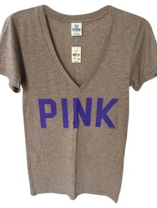 PINK Victoria's Secret T Shirt Heather Brown