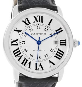 Cartier Cartier Ronde Solo Silver Dial Automatic Steel Date Watch W6701010
