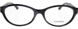 Chanel CHANEL Chain Collection Oval Eyeglasses CH3223Q (Marble Blue)