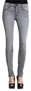 J Brand Mid Rise Grey Skinny Jeans-Light Wash