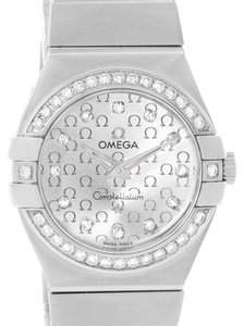 Omega Omega Constellation 27mm Diamond Ladies Watch 123.15.27.60.52.001
