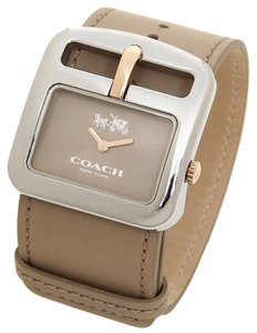 Coach Coach Duffle Beige Leather Strap Buckle Watch 14502321