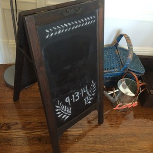 Classic, wooden, chalkboard perfect for wedding