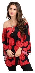 Other Off Bohemian Floral Loose Fit Bell Sleeve Tunic