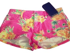 Denium & Supply Ralph Lauren Mini/Short Shorts Pink, yellow, & green