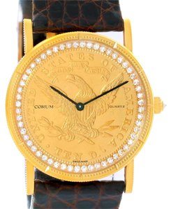Corum Corum 1893 18K Yellow Gold 10 Coin Diamond Watch