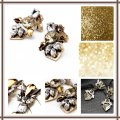 Other NWT Beautiful Clear & Gold/Yellow Crystal Earrings Image 2