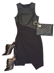 Jay Godfrey Faux Leather Sleeveless Lbd Dress