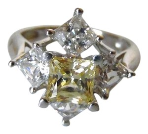 Victoria Wieck Victoria Wieck .925 Sterling Silver Yellow and Clear Absolute Diamond Ring Size 8