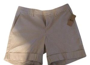 Daniel Cremieux Taupe White Dress Shorts Seersucker