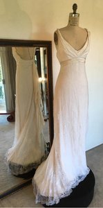 Sz 6/8 Lace Low Back Sexy Wedding Dress