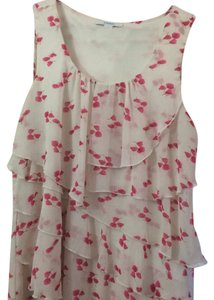 Dress Barn Top White and pink